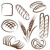 Bread set vectors Royalty Free Stock Images