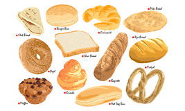 Bread Set Royalty Free Stock Photo