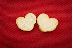 Bread in the shape of hearts Stock Photography
