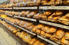 Bread shelf Royalty Free Stock Images