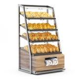 Bread shelves royalty free illustration