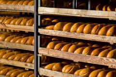 Bread on the shelves. Royalty Free Stock Photography