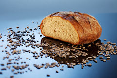Bread on shiny surface Stock Photo