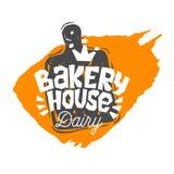 Bread shop, ,bakery, bakehouse home baking lettering logo label emblem design. Bread shop, bakery, bakehouse home baking lettering logo label emblem design. The stock illustration