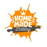 Bread shop, ,bakery, bakehouse home baking lettering logo label emblem design. Bread shop, bakery, bakehouse home baking lettering logo label emblem design. The royalty free illustration