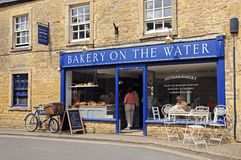 Bread shop and cafe, Bourton on the Water. Royalty Free Stock Images