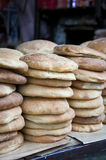 Bread in shop at market Marocco. Bread is presented in a small shop in Morocco Stock Images