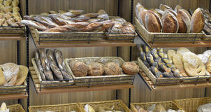 Bread in a shop Stock Images