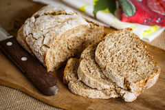 Bread. Simple and Healthy Whole Wheat Bread stock photos