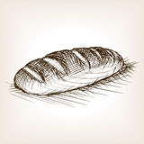 Bread sketch style vector illustration Royalty Free Stock Photo