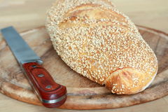 Bread slashed Stock Images