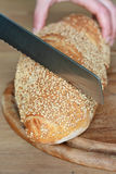Bread slashed Stock Photos