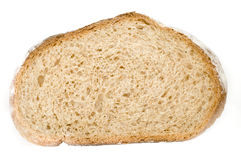 Bread slice. Brad slice isolated on white background stock photography