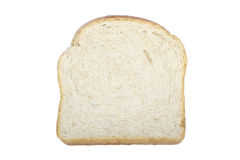 Bread Slice. A slice of whole wheat bread isolated on white Stock Photo
