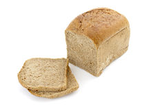Bread slice 2. Still life of bread loaf on white background with clipping path Stock Photos