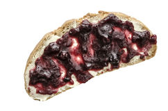 Bread slice with berry jam Royalty Free Stock Image