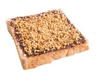 Bread. slice of bread with chocolate cream Royalty Free Stock Photo