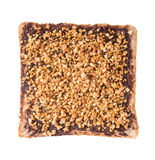 Bread. slice of bread with chocolate cream Royalty Free Stock Photos