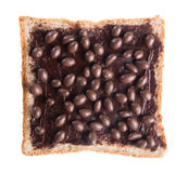 Bread. slice of bread with chocolate cream Royalty Free Stock Images