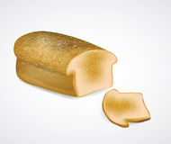 Bread with Slice. Clip-art, Illustration stock illustration
