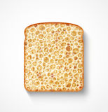 Bread slice. Eps 10 royalty free illustration
