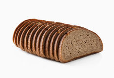 Bread. Slice of fresh rye bread isolated on white background Stock Images
