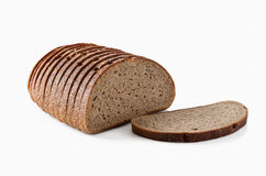 Bread. Slice of fresh rye bread isolated on white background Royalty Free Stock Images
