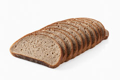 Bread. Slice of fresh rye bread isolated on white background Stock Photo
