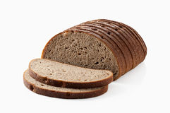 Bread. Slice of fresh rye bread isolated on white background Stock Photography