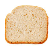 Bread slice with golden crust Royalty Free Stock Images