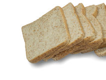 Bread slice. Isolate on white background Stock Images