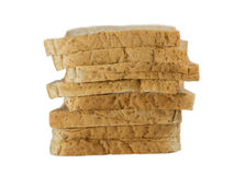 Bread slice. Isolate on white background Royalty Free Stock Photography