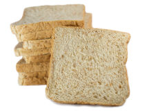 Bread slice. Isolate on white background Stock Photography