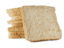 Bread slice. Isolate on white background Stock Photos