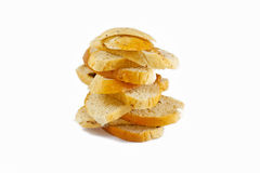 Bread slice isolated Stock Images