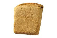 Bread slice isolated on white royalty free stock photo
