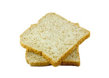 Bread slice isolated on white background Royalty Free Stock Images