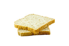 Bread slice isolated on white background. Bread slice food for morning Stock Photography