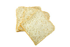Bread slice isolated on white background Stock Images