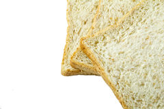 Bread slice isolated on white background. Bread slice food for morning Stock Image