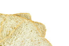 Bread slice isolated on white background. Bread slice food for morning Stock Photo