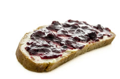 Bread slice with jam Royalty Free Stock Photo