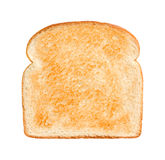 Bread Slice Lightly Toasted stock photo