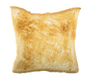 Bread Slice Lightly Toasted. Single Slice of lightly toasted white bread isolated on a white background with clipping path Stock Images