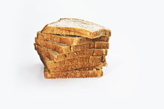 Bread slice in row Stock Images