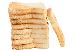 Bread slice tower Royalty Free Stock Photography
