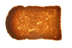 Bread slice on transparent  background. Bread slice on transparent white background Stock Photo