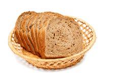 Bread sliced in basket Stock Image