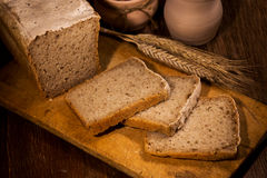 Bread with sliced Royalty Free Stock Photos