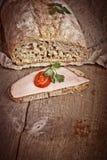 Bread with sliced pork ham Royalty Free Stock Image